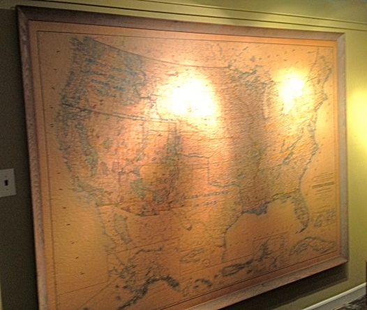 Family Room Wall Map.