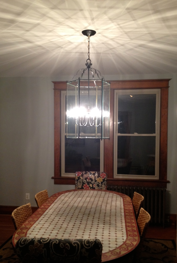 Dining room chandelier, after.