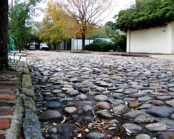 Charleston, South Carolina cobblestones.