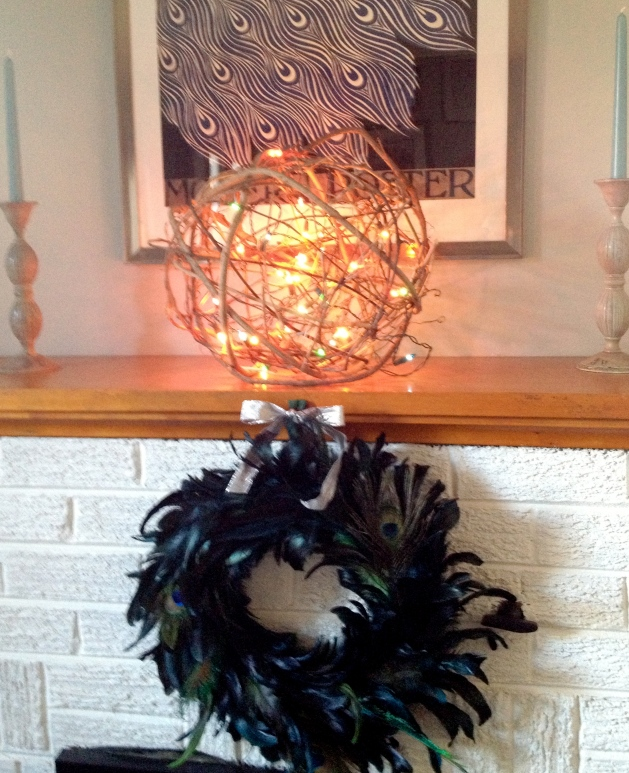 My vine ball, lighted!