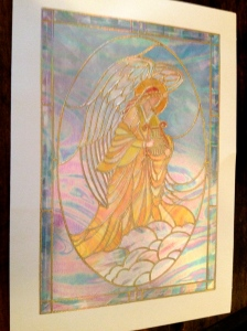 Papyrus Stained Glass Card.