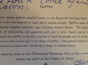 Griffins description.