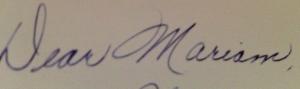 The most beautiful handwriting.