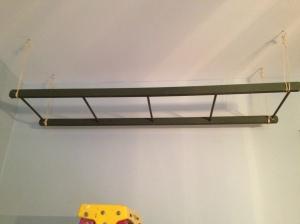 The ladder as basket storage