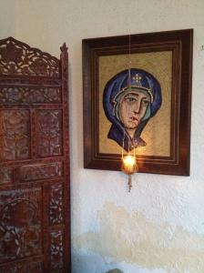 Turquoise mosaic icon.