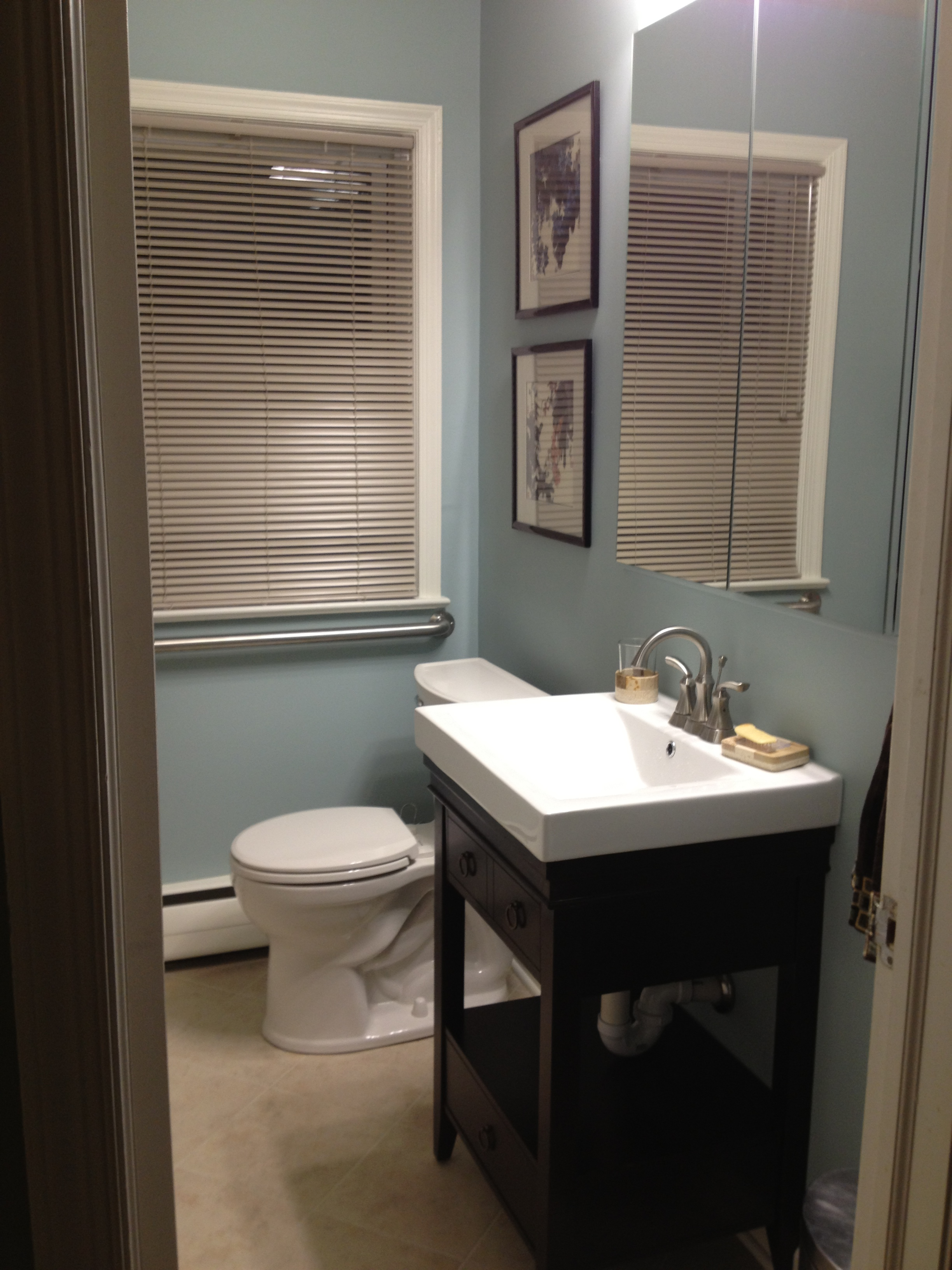 Benjamin moore wedgewood gray simply turquoise for For bathroom