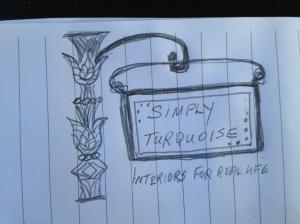 Draft logo sketch.