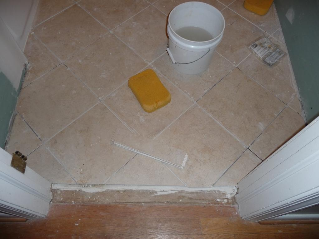 Tile set on the diagonal.