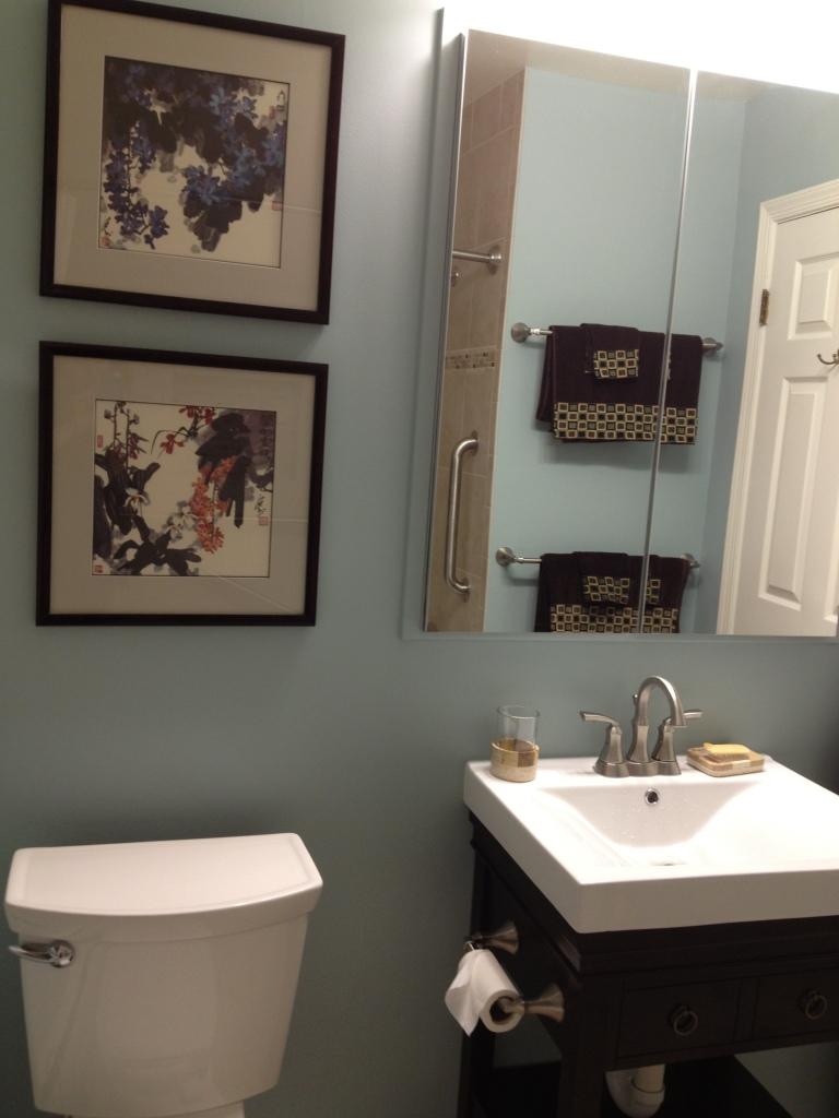 The paint color is Benjamin Moore's Wedgewood Grey.