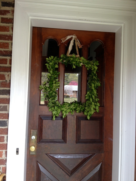 A Fresh Garden Wreath.