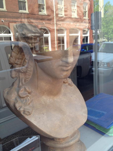 Bust in a Shop WIndow.