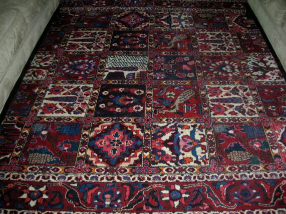 A masculine rug is more casual.