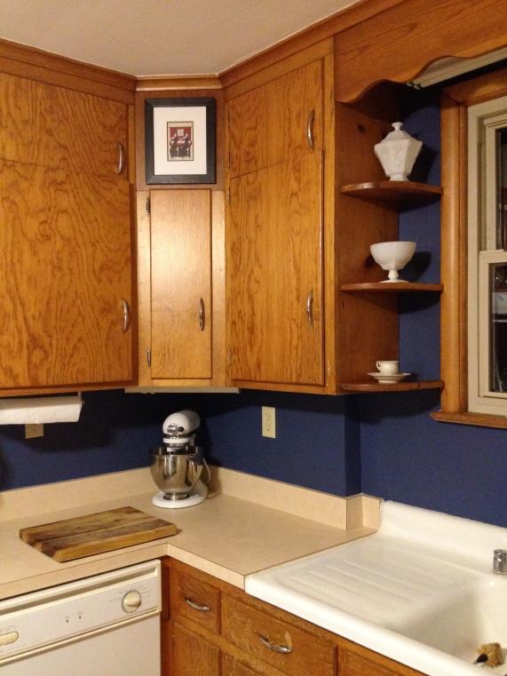 Kitchen painted Benjamin Moore's Indi go go.