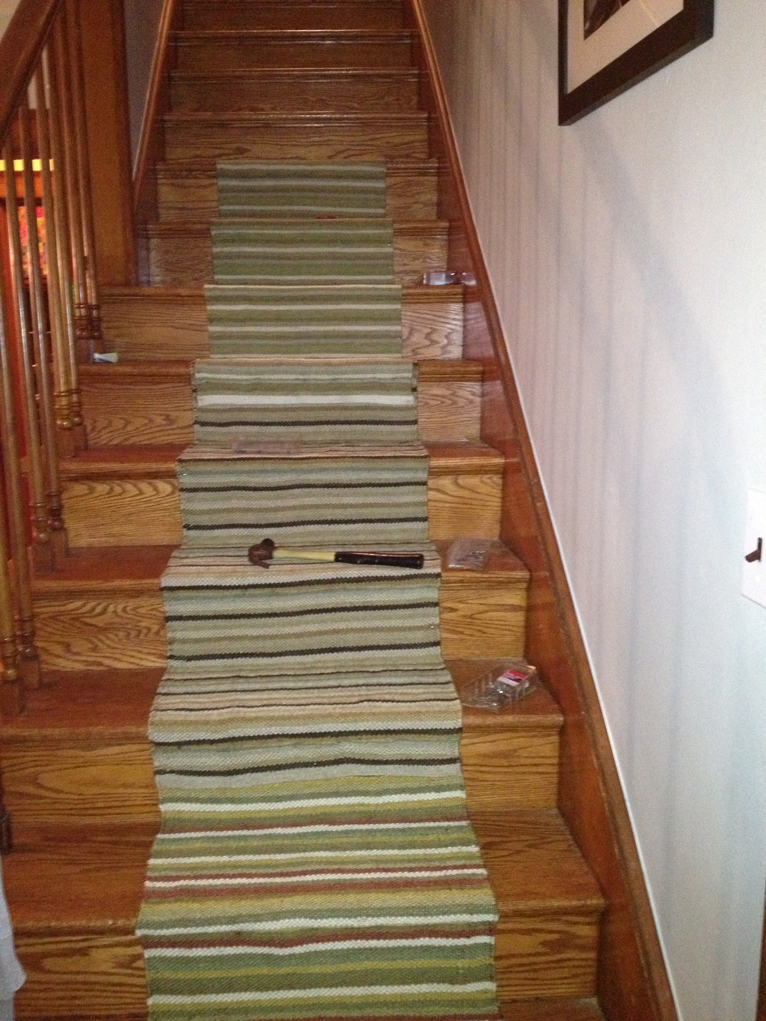 Diy Stair Runner Simply Turquoise