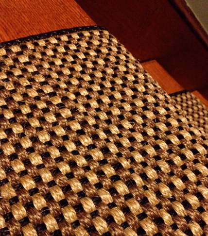 A black and natural sisal weave.