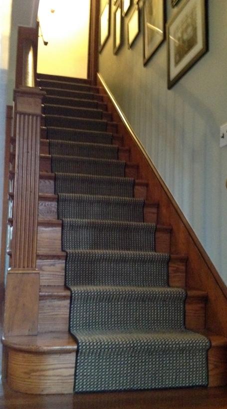Sisal stair runner.