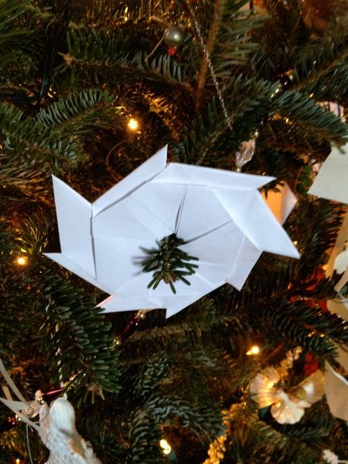 Origami ninja star.