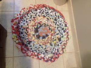 The braided rug.