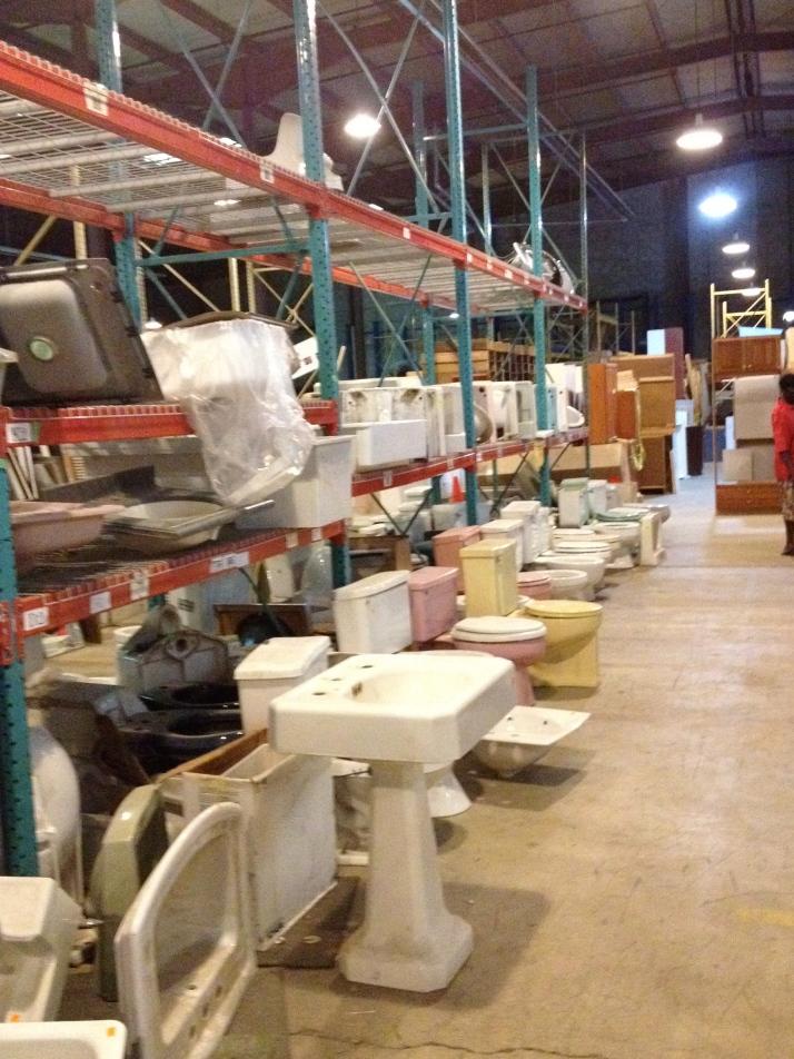 An aisle of ceramics.
