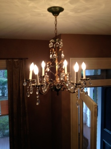 An old chandelier.