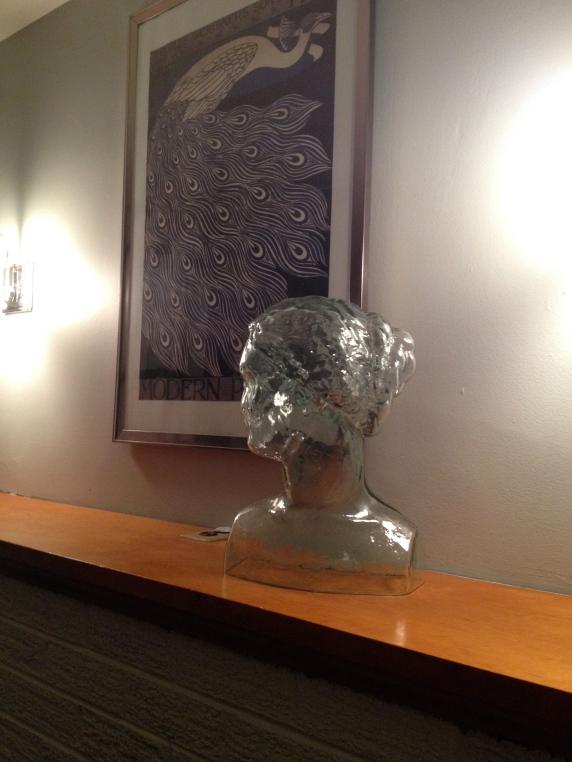 A glass bust.