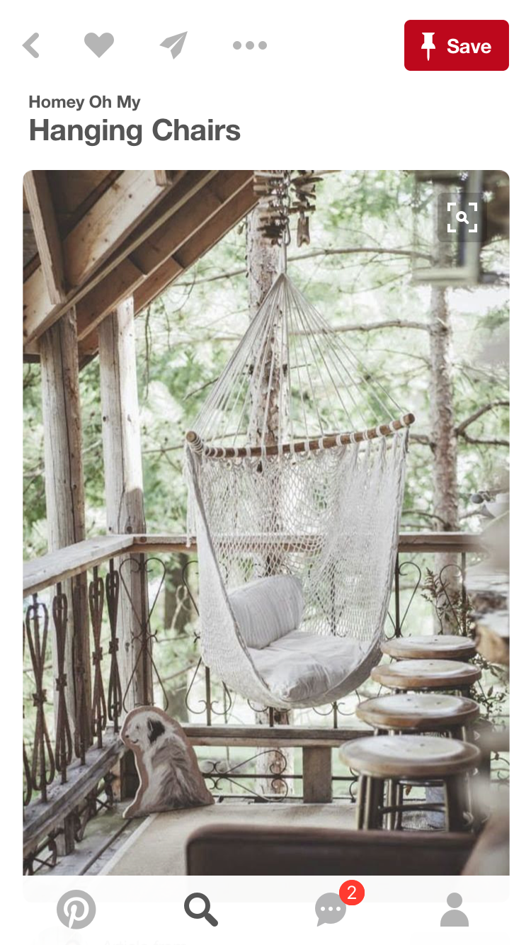 A porch is perfect!